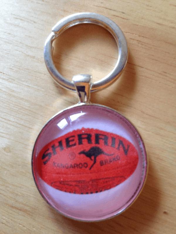 AFL Sherrin Football Keyring