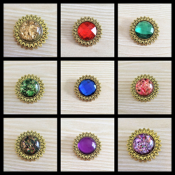 Sunflower with Various Colour and Style Centre Brooches / Shawl Pins / Badges – 9 Colours