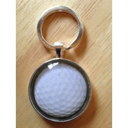 Handmade Golf Ball Key Ring / Bag Tag – FREE POSTAGE