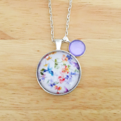 Handmade Hummingbird and Floral Necklace with charm – FREE POSTAGE