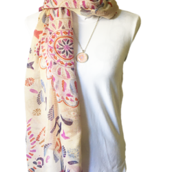 Indian scarf with matching necklace set – FREE POSTAGE