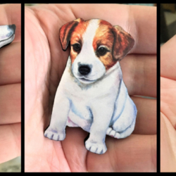 Cute Jack Russell Brooches – 3 styles