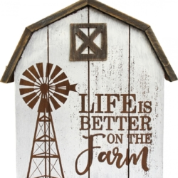 Standing Wood Sign Life is Better On the Farm