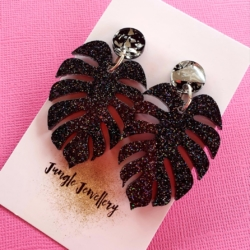 Earrings – Monstera Dangles