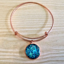 Faux Shell / Opal Rose Gold Bangles – 5 colours