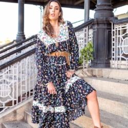 Anna Boho Maxi Dress