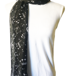 White musical notes scarf – FREE POSTAGE – 14 other designs available in our store.