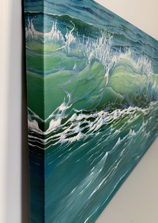 Side view of canvas print