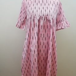 Handloom pure cotton dress – Peach