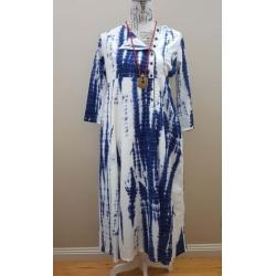 Handloom pure cotton maxi dress – Shibori