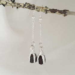 Sterling Silver Earrings with Devil's Dice
