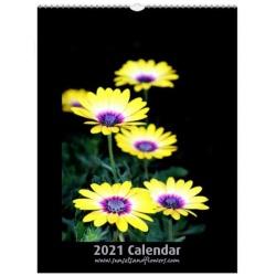 2021 A4 Classic Flower Calendar