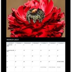 2021 A3 Classic Flower Calendar