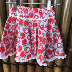 Girl's cotton full circle skirts with drawstring elastic waistband (Copy)