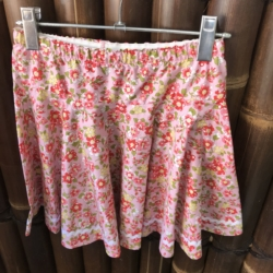 Girl's cotton full circle skirts with drawstring elastic waistband.