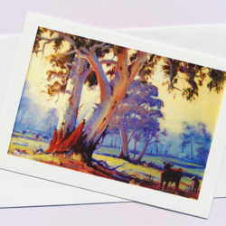 Australian Gums greeting card by Australian artist Peter Hill