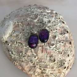Earrings- Dichroic Glass Drops