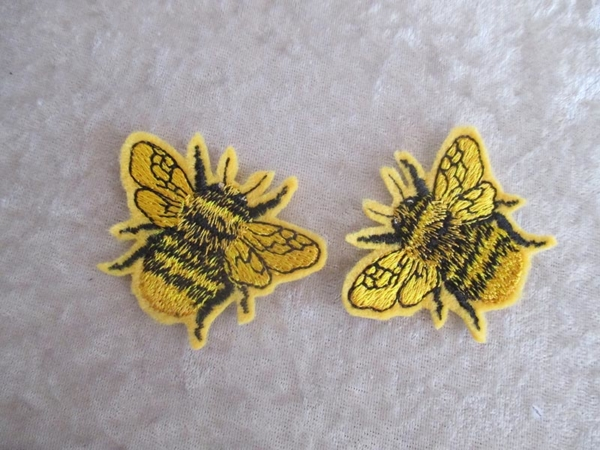 Bee iron on patch