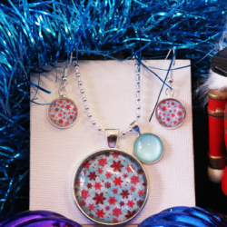 NEW RELEASE – Colourful Snowflakes – Christmas Theme Necklace and Earrings – FREE POSTAGE – 13 other designs available.