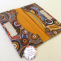 Handmade Ladies Purse – Aboriginal Print – 'Desert Winds'