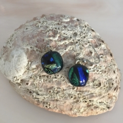 Earrings- Dichroic Glass Drops