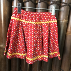 Girl's cotton full circle skirts with drawstring elastic waistband. Size 2