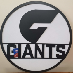 AFL Metal Wall Art – GWS GIANTS