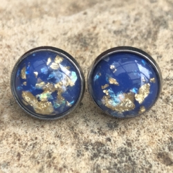 Flecks of Gold: Stainless Steel Resin Studs