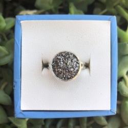 Sparking Charcoal: Adjustable Resin Ring