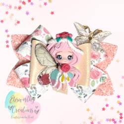 Fairy Hair Bow Pink Hair