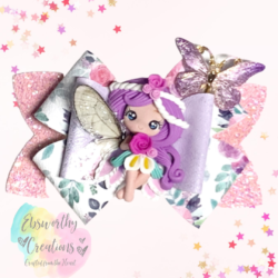 Fairy Hair Bow Purple Hair