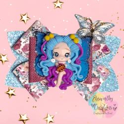 Fairy Hair Bow Blue Hair