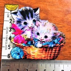 Basket of Kittens Brooch / Pin / Badge