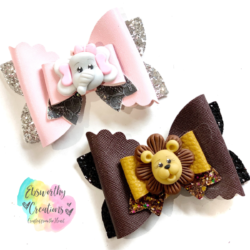 Lion and Elephant Hairbows