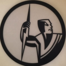 NRL METAL WALL ART -MELBOURNE STORM – 50 CM