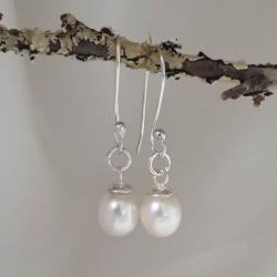 Freshwater Pearl Sterling Silver Earrings