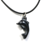 Dolphin hematite necklace pendant from Cloud Publishing