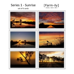 Set of 6 Country Sunrise Photo Greeting Cards