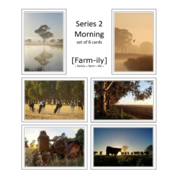 Set of 6 Country Morning Photo Greeting Cards