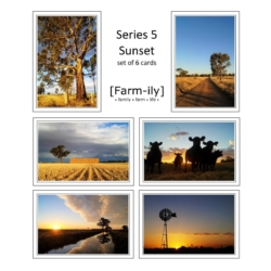 Set of 6 Country Sunset Photo Greeting Cards