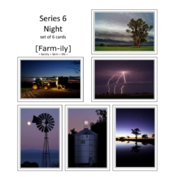 Set of 6 After Dark Photo Greeting Cards
