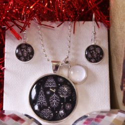 NEW RELEASE – Silver Christmas Tree – Christmas Theme Necklace and Earrings – FREE POSTAGE – 13 other designs available in our store.