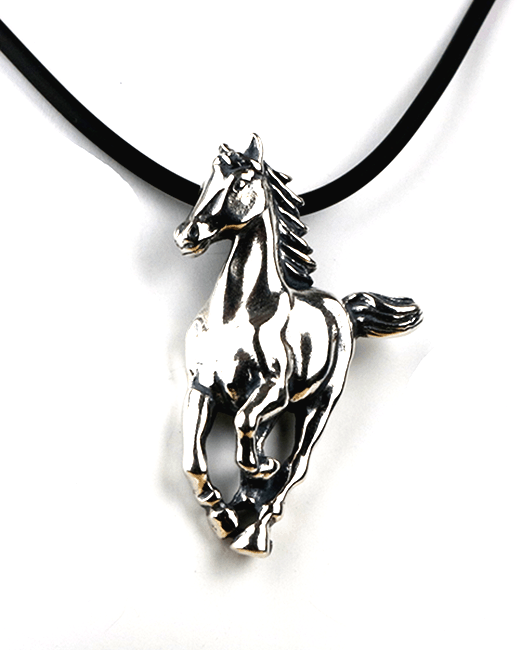 Sterling silver horse pendant necklace from Cloud Publishing