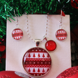 NEW RELEASE – Ugly Sweater Christmas Theme Necklace and Earrings – FREE POSTAGE – 13 other designs available.