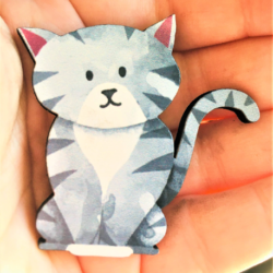 Cute Cat Brooches / Shawl Pins / Badges – 2 styles