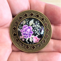 Japanese Floral Brooches / Pins / Badges – 2 styles