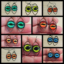 Bright Eye Dangle Earrings – 5 styles – stainless steel