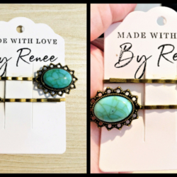 Vintage Faux Turquoise Hair Pins – sold in pairs