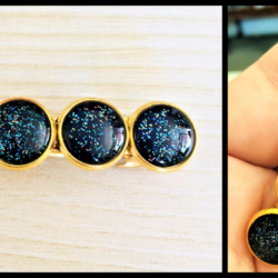 Gold Galaxy Hair Barrette / Clip
