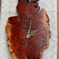 Red Gum Burl Koala Clock